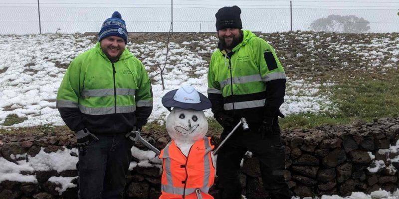 Snow at Gunning Wind Farm